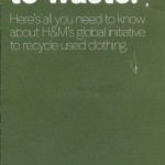 No Nonsense Fashion:  Recycle with H &M